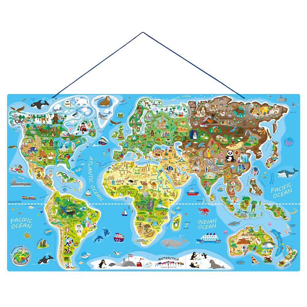 Woodyland Magnitna Karta Na Sveta Pzel S Magnitni Chasti I Igra