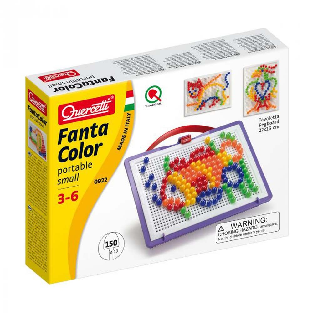 Quercetti, 0 Мозайка FANTACOLOR PORTABLE SMALL, 150 части