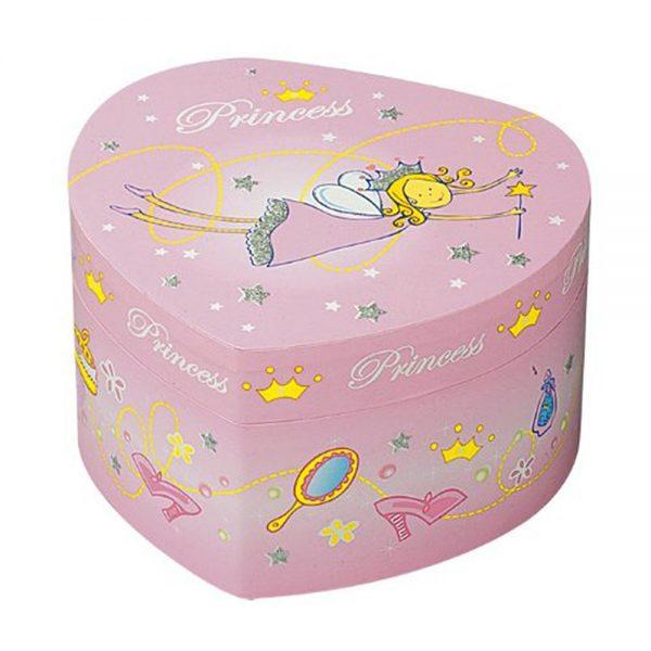 Trousselier S30502, Музикална кутия Голямо розово сърце Принцеса