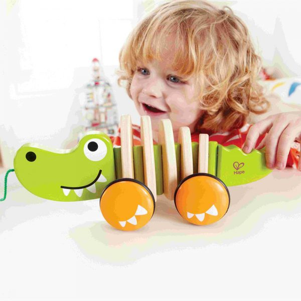 HAPE Е0348, Играчка за дърпане, Веселия крокодил