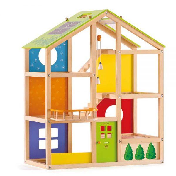 HAPE Е3400, Дървена къща за кукли, Четири сезона