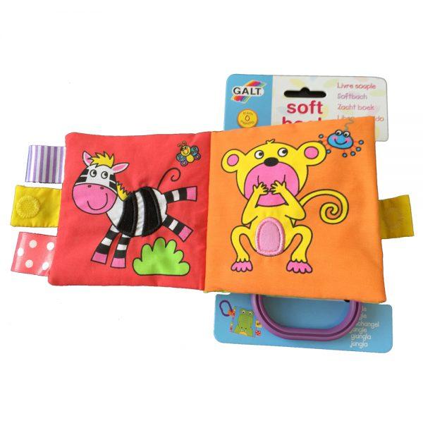 """Galt Toys 1003703, Малка мека книжка """"Джунгла"""""""