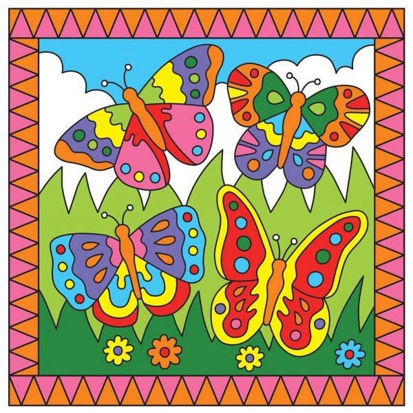 Galt Toys 1003739, Рисувай по номера - Пеперуди/Жабки