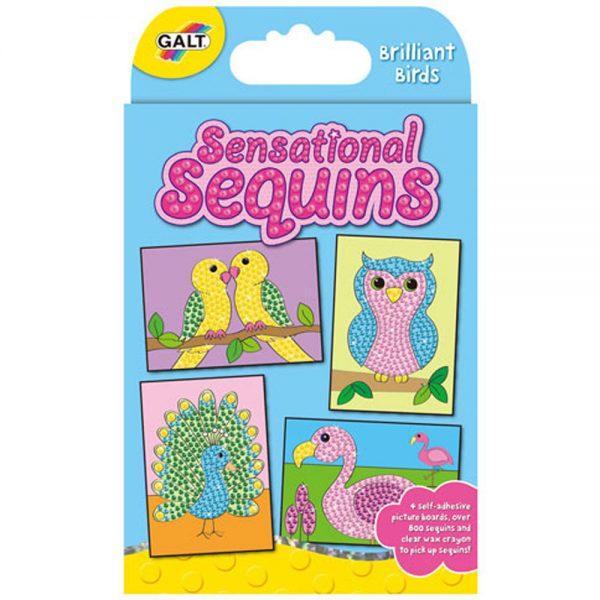 """Galt Toys 1004114, Изкуство с пайети """"Птици"""""""