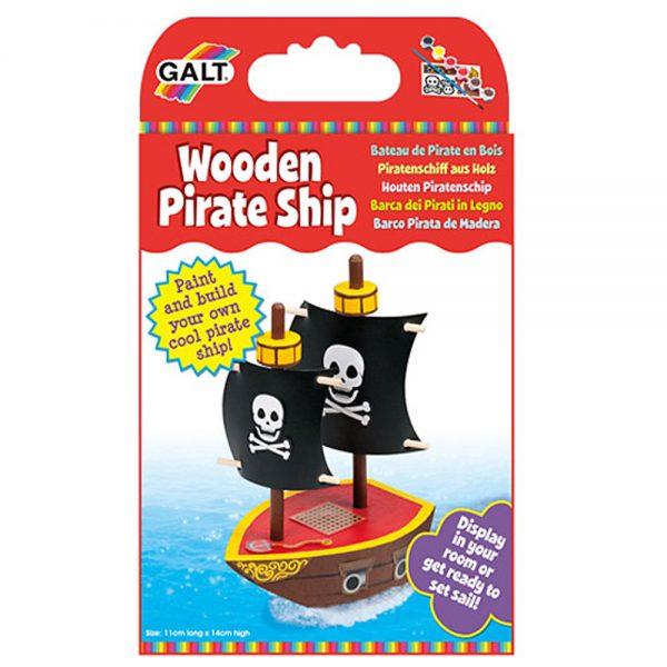 Galt Toys 1004405, Направи сам дървен пиратски кораб