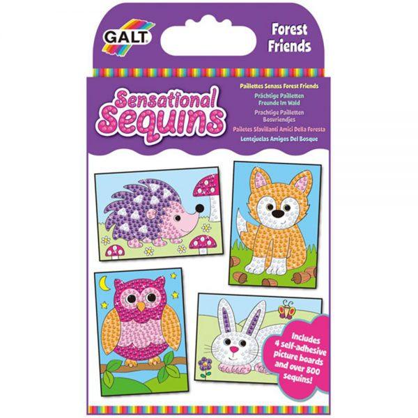 Galt Toys 1004657, Изкуство с пайети - Горски животни