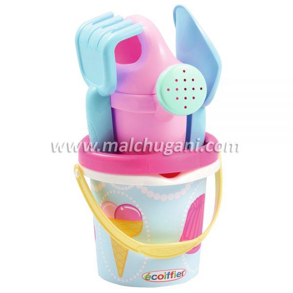 Ecoiffier 7600000233, Кофичка за пясък, Сладолед