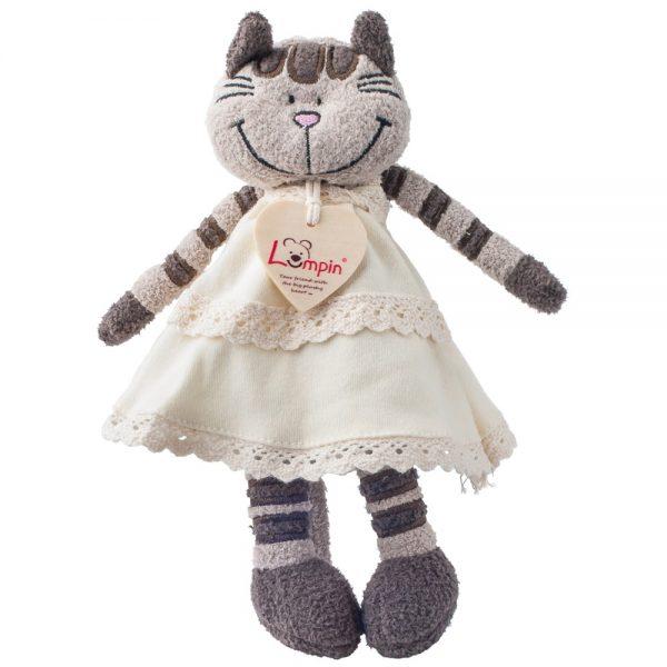 Lumpin 94011, Плюшено коте с рокля Ангелика, 23 см.