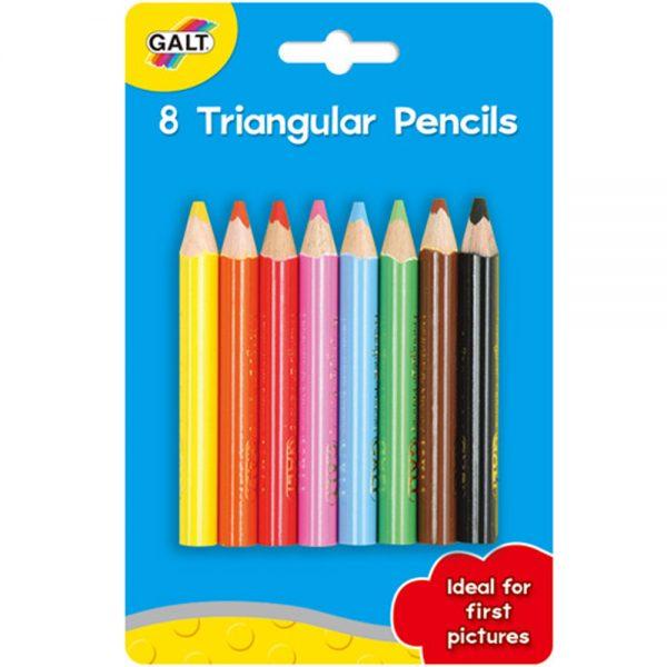 Galt Toys A3306G, 8 триъгълни молива