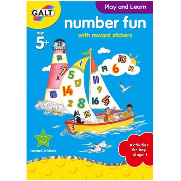 Galt Toys L3143B, Забавна книжка за цифрите