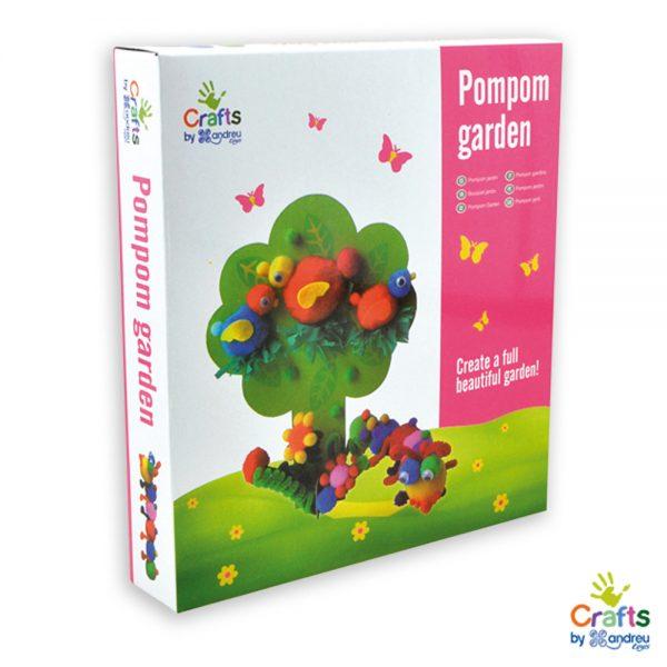 Andreu toys 1240082, Направи си цветна градина от помпони