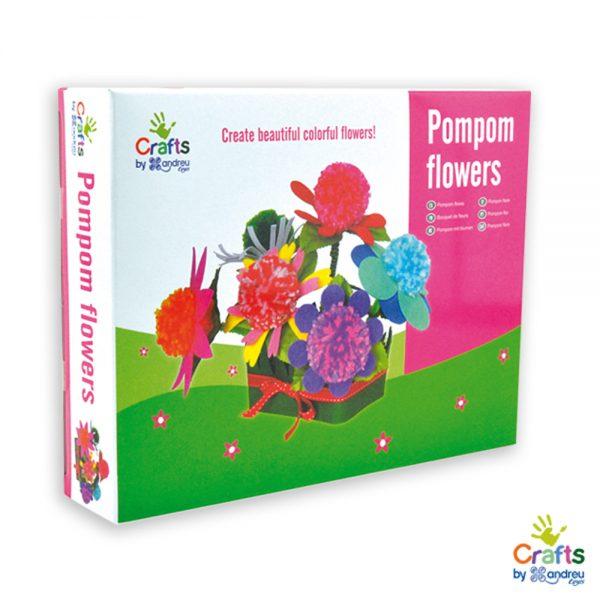 Andreu toys 1240172, Направи си цветя от помпони