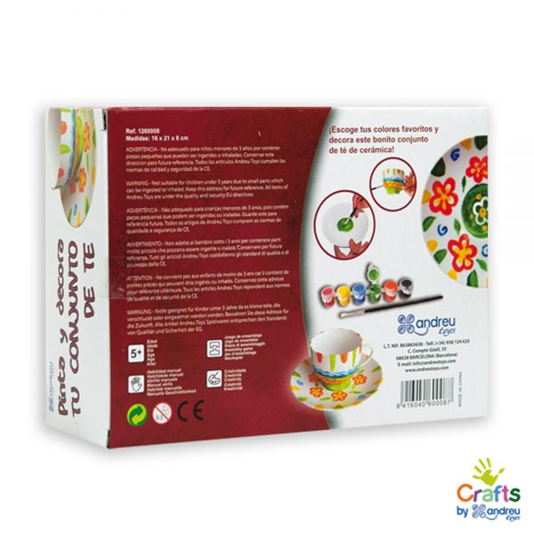 Andreu toys 1260008, Нарисувай комплект за чай