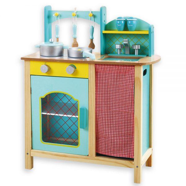 Andreu toys 15015, Голяма синя кухня с аксесоари