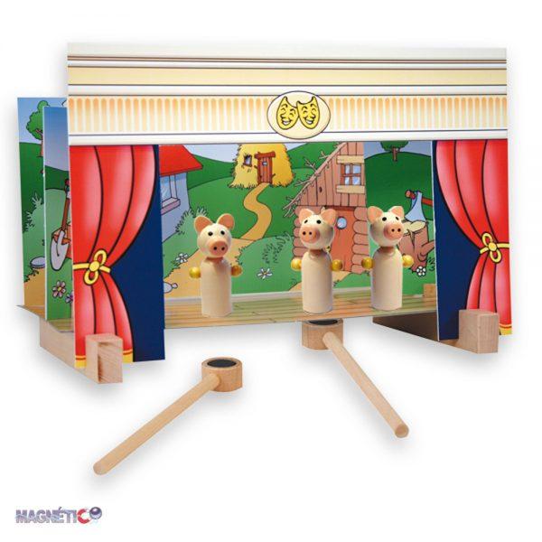Andreu toys 16005, Магнитен куклен театър