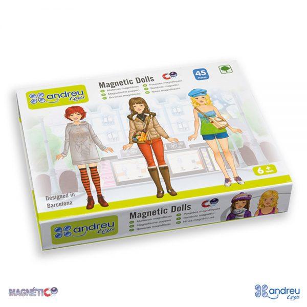 Andreu toys 16029, Магнитни модерни момичета с дрехи