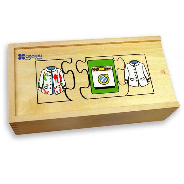 Andreu toys 16160, Последователности, пъзел в дървена кутия