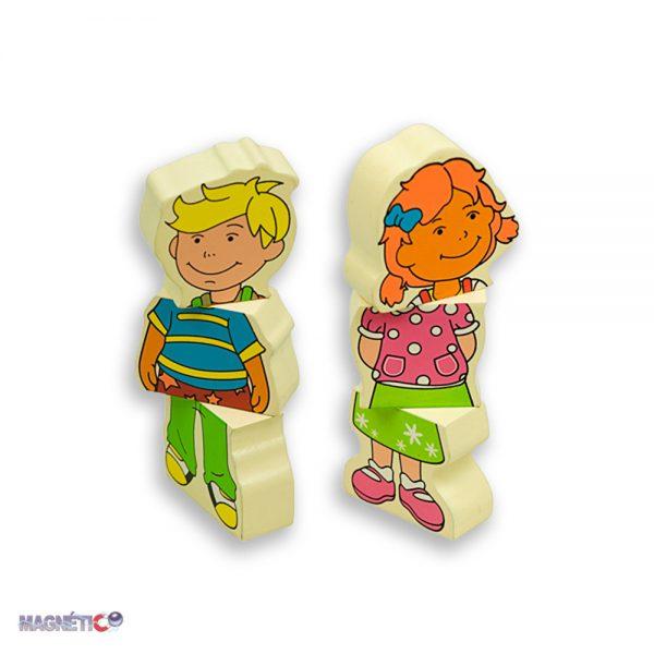 Andreu toys 16320, Дървени магнитни деца