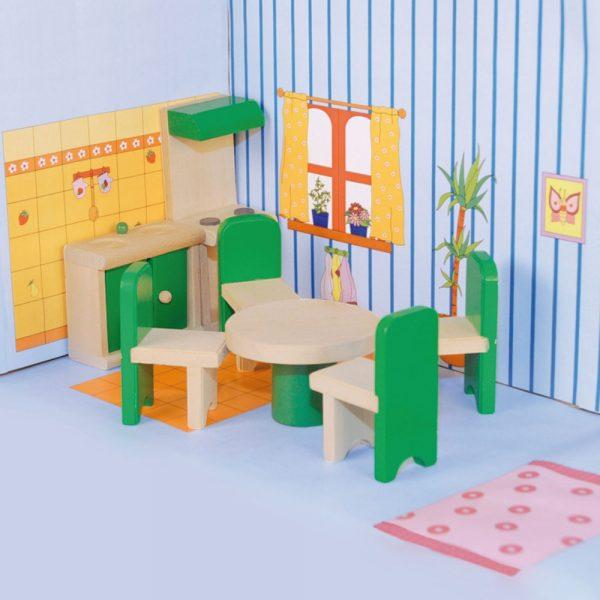 Woody 90611, Кухня с трапезария за кукли