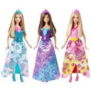 Barbie CFF24 Mix & Match, Кукла Барби Модни принцеси, Принцеса със розова коронка