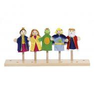 GOKI 51899, Комплект кукли за пръсти, Жабокът принц