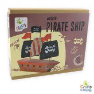 Andreu toys 1232012, Направи сам дървен пиратски кораб