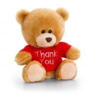 Keel Toys SB0307, Плюшено мече с червена тениска Thank you