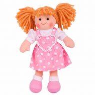 BIGJIGS BJD020, Мека кукла Руби с руса коса и розова рокля
