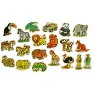 Bigjigs BJ729, Дървени магнити, Африкански животни