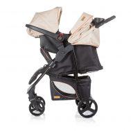 Детска количка със столче Пасо, бежова, Chipolino