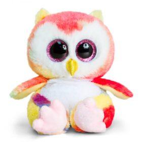 Keel Toys SF0960, Анимотсу, Плюшено цветно бухалче, 15 см