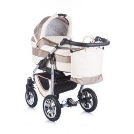 Комплект количка за бебе и кош Leo 2 в 1 бежово