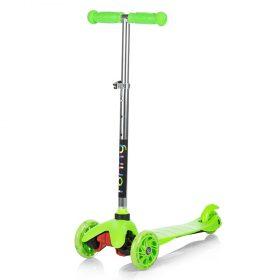 Тротинетка със светещи колела, Рони, зелена
