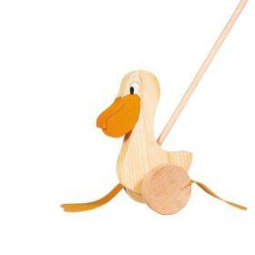 Goki WP006, Дървена играчка за бутане, Пеликан